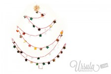 Wall Christmas tree – or Christmas card recycling
