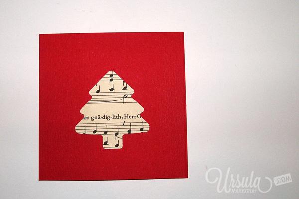 Last-minute Weihnachtskarte/ Last-minute Christmas card