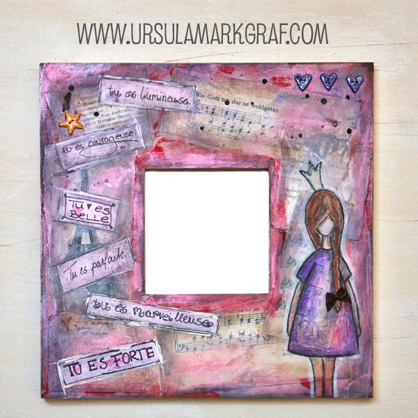 Magic mirror / Zauberspiegel - mixed media project - by Ursula Markgraf