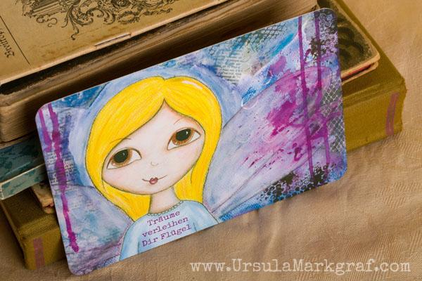 Träume verleihen Dir Flügel - Weisheiten von deinem inneren Kind - mixed-media Postkarte