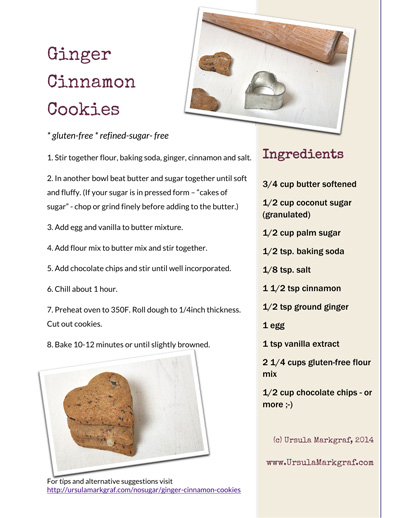 Ginger cinnamon cookie recipe by Ursula Markgraf