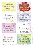 Affirmations about selfcare - free to download - by Ursula Markgraf