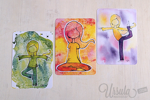 Postcard set YOGA-LOVE