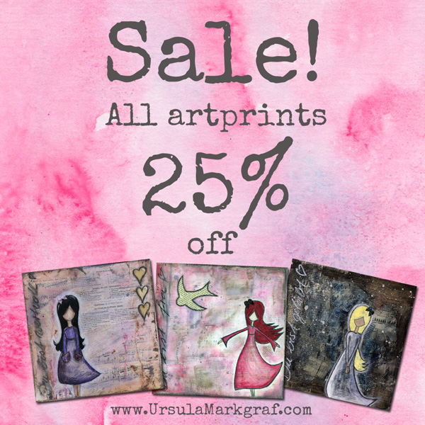 Sale - all art prints - Ursula Markgraf - mixed media art