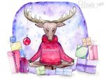 Meditating reindeer Christmas cards are here!
