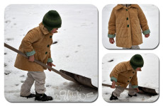 Cozy woodland coat – sewn for boys