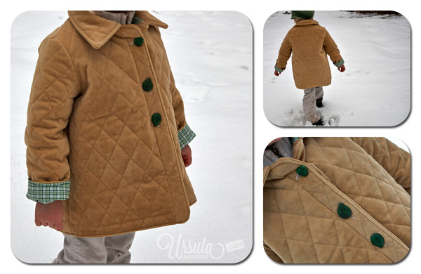Cozy woodland coat - sewn for boys