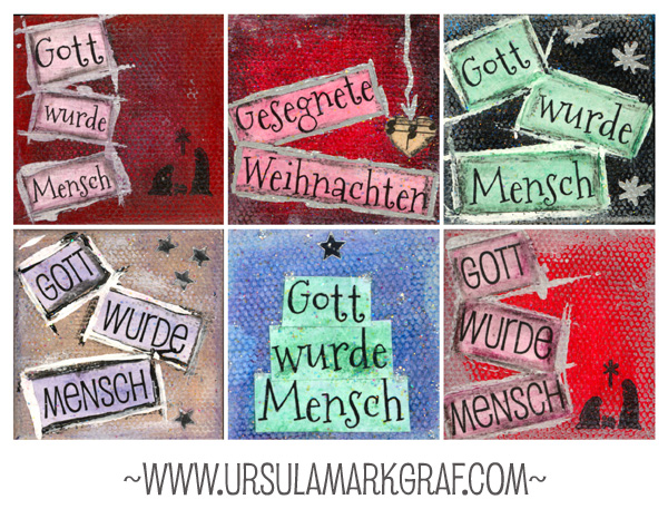 Weihnachten/ Christmas - mixed media - by Ursula Markgraf