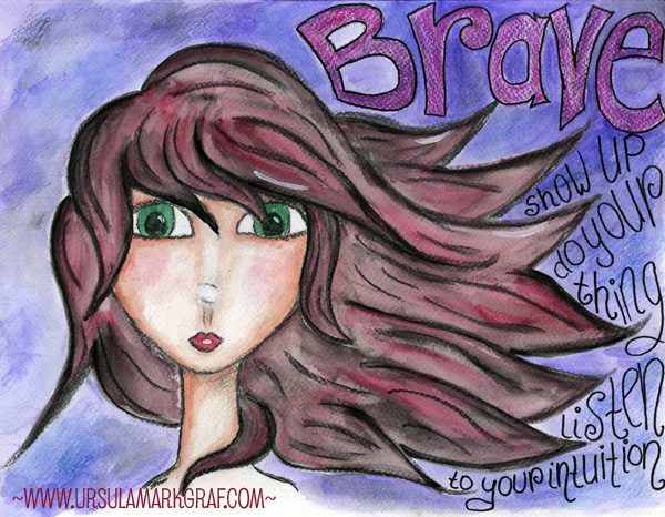 "Mixed media ""Brave"" by Ursula Markgraf"