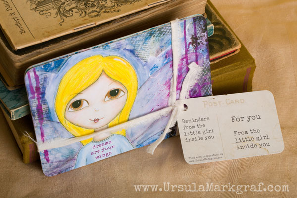 Mixed-media postcard set