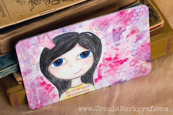 Du bist eine Prinzessin - Weisheiten von deinem inneren Kind - mixed-media Postkarte