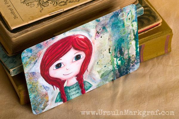 Lebe deinen Traum - Weisheiten von deinem inneren Kind - mixed-media Postkarte