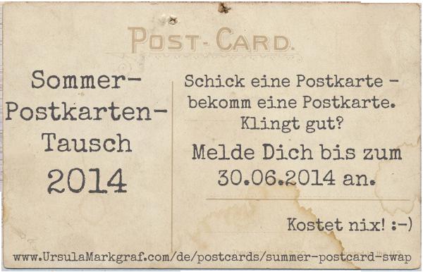 Sommer-Postkarten-Tausch 2014 von Ursula Markgraf