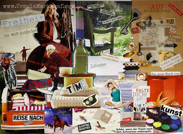 Visionboard von Ursula Markgraf