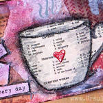 Celebrate life everyday - mixed media step-by-step photo tutorial