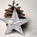 You're a star - mixed-media star ornament tutorial