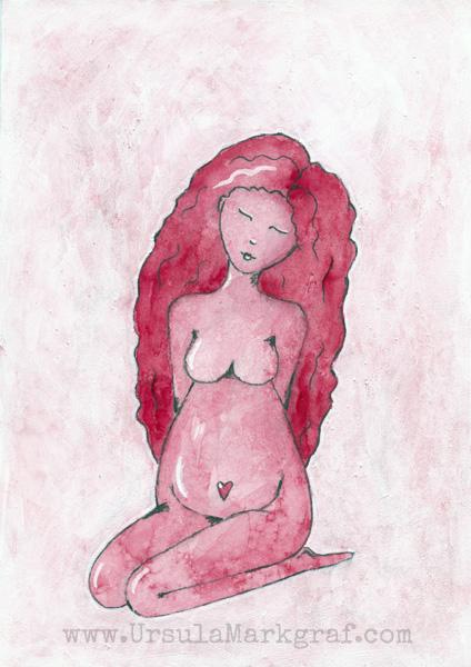 """Geburt"" - art by Ursula Markgraf"