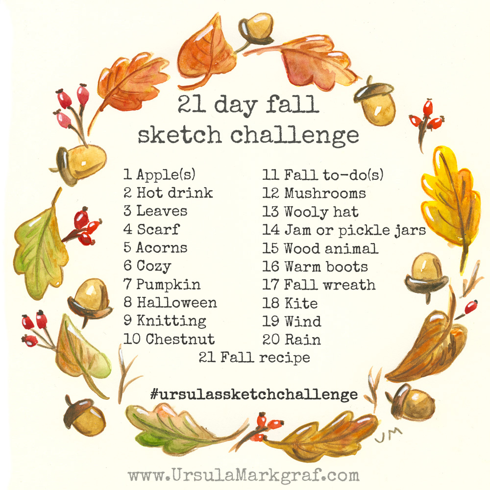 21 day fall sketch challenge