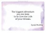 Lebe Deinen Traum – eine Erinnerung zum Runterladen