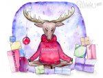 Meditierendes Rentier! Neue Weihnachtskarte!